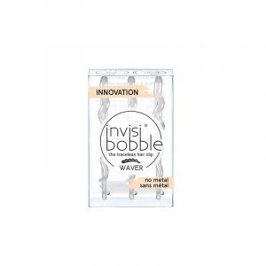 Invisibobble Waver Crystal Clear Gancho Cabelo Transparente x3